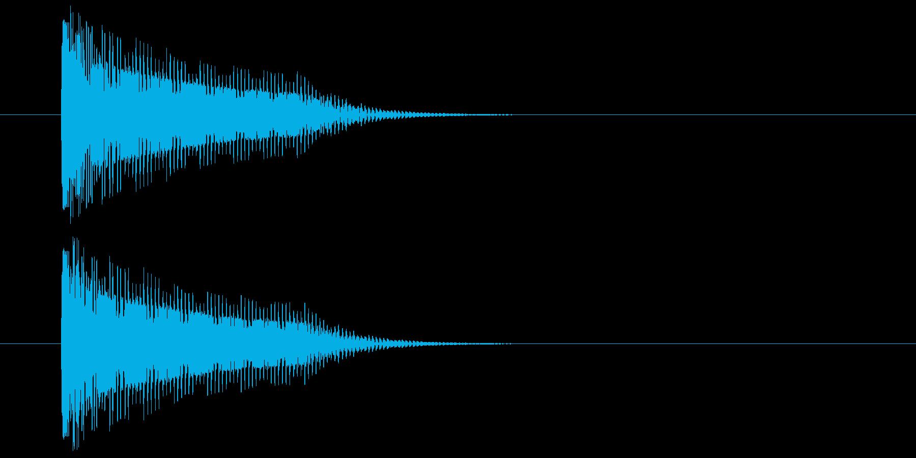 ダメージSEの再生済みの波形