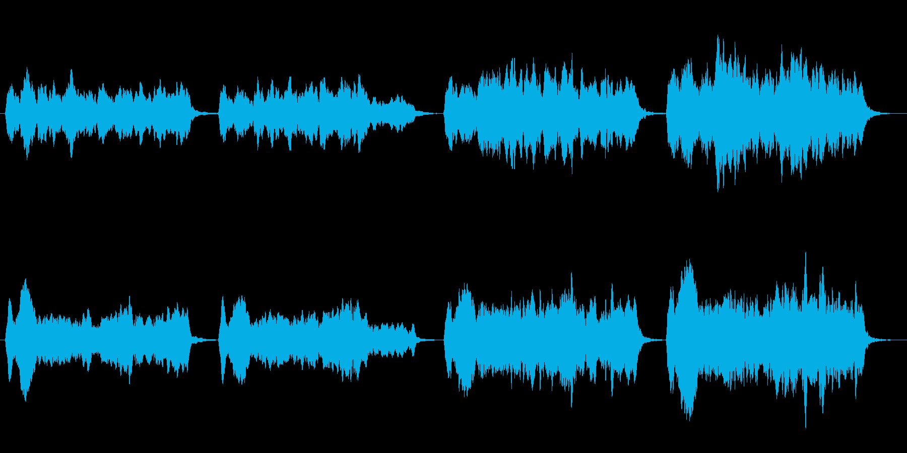 絶望を表現したストリングスの再生済みの波形