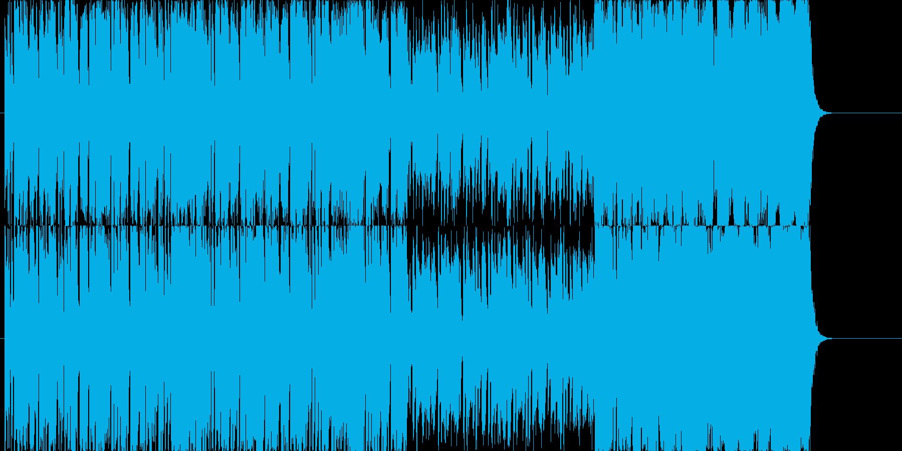 せわしないリズムテンポ早ジングルの再生済みの波形