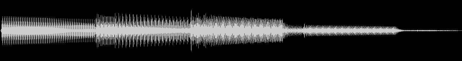 ボタン決定音システム選択タッチ登録B07の未再生の波形