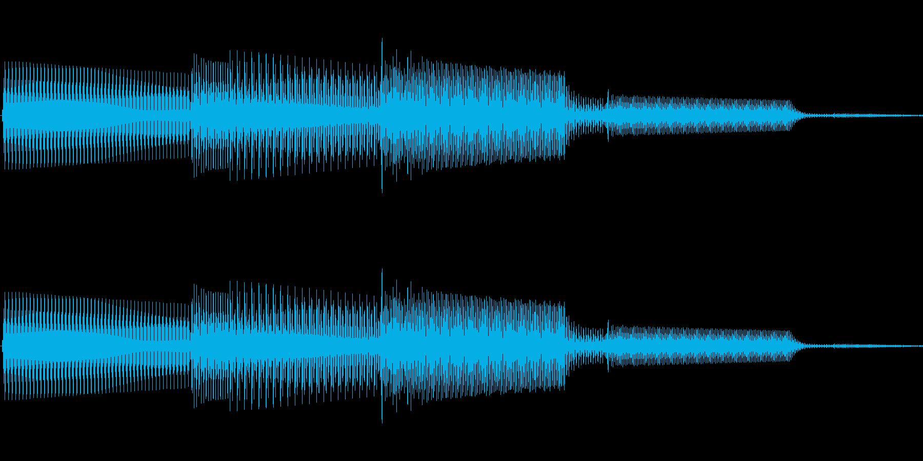 ボタン決定音システム選択タッチ登録B07の再生済みの波形