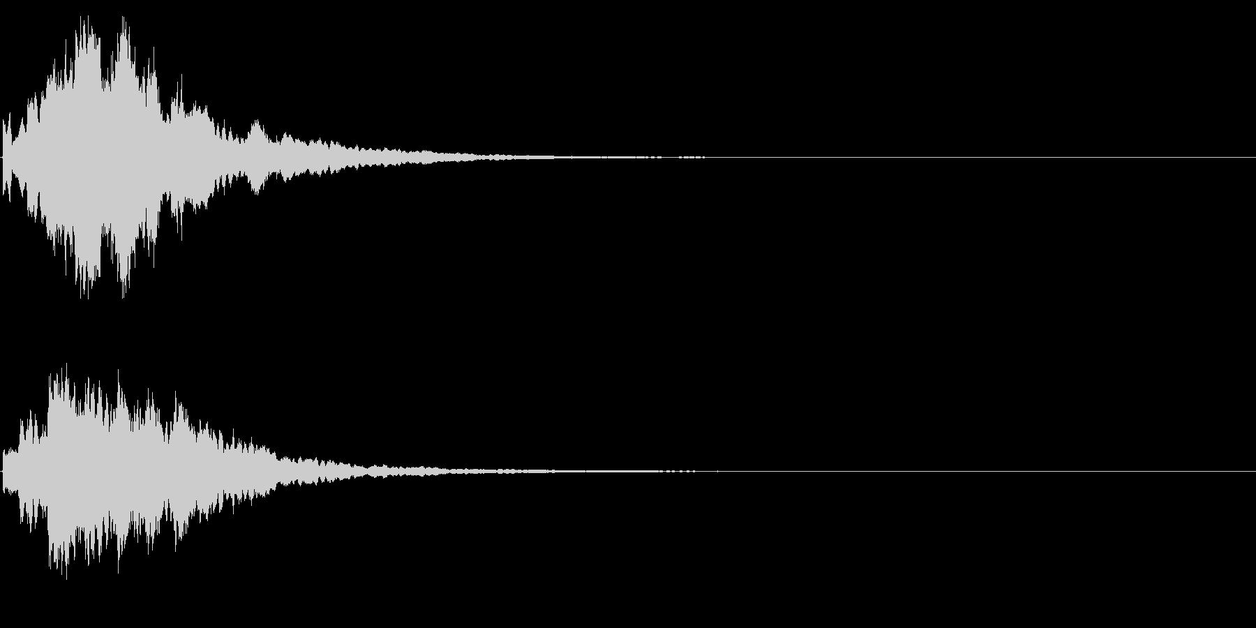 ゲームスタート、決定、ボタン音-128の未再生の波形