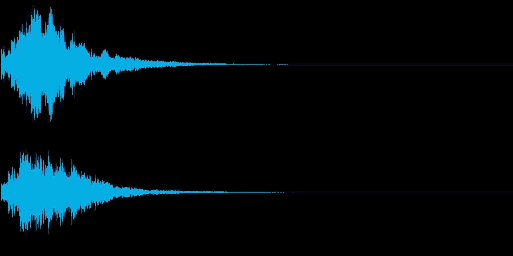 ゲームスタート、決定、ボタン音-128の再生済みの波形