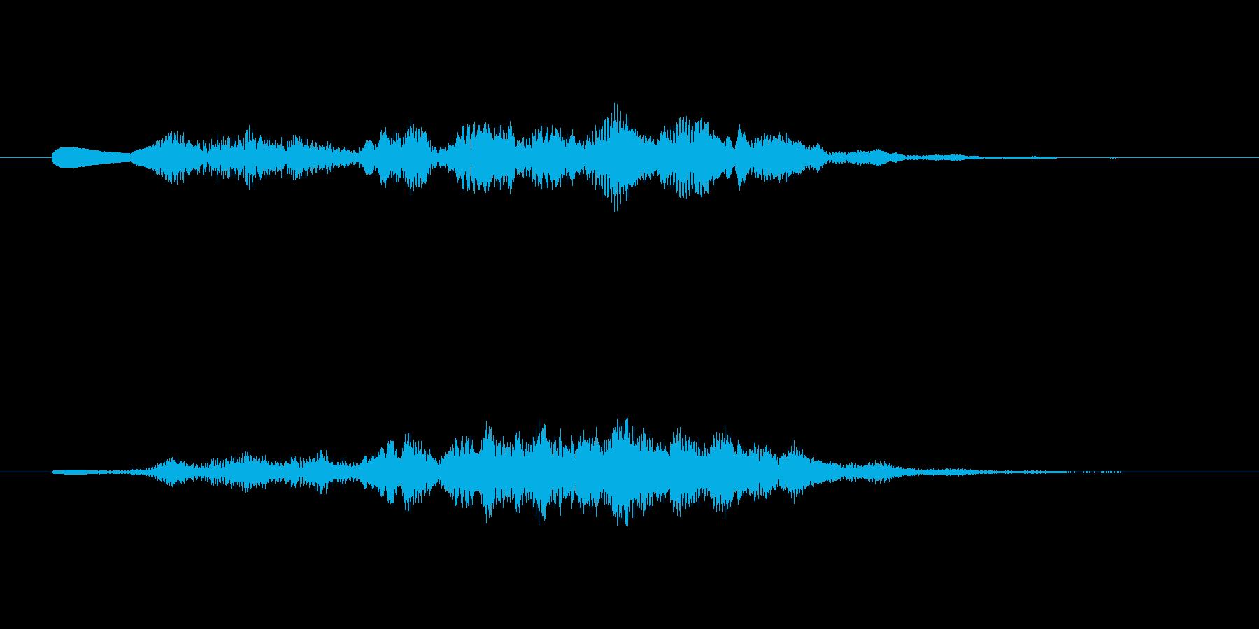 シンセのふわふわしたサウンドロゴの再生済みの波形