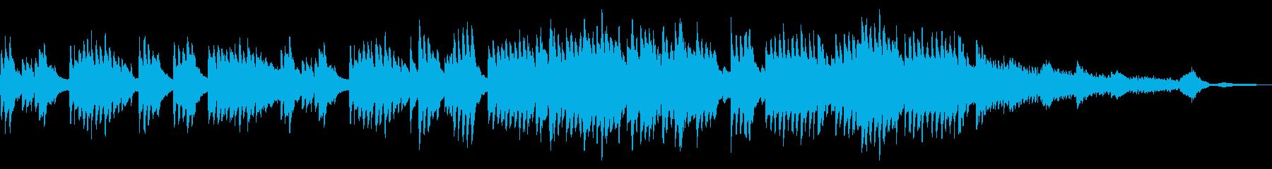 美しいピアノの旋律の再生済みの波形