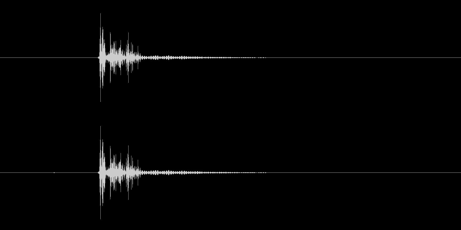 グオロ(鈍い音)の未再生の波形