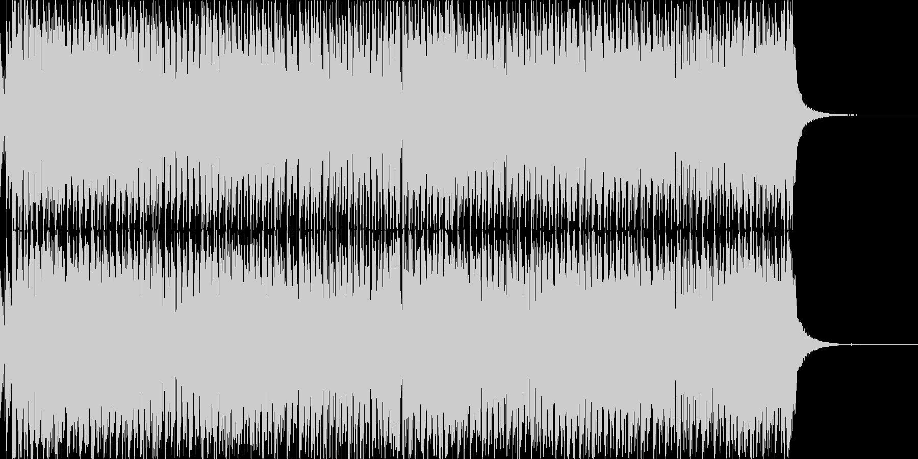 明るく爽快なエレクトロダンスBGMの未再生の波形