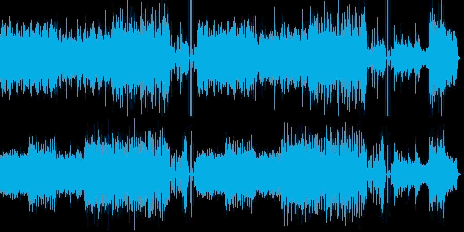 迷路を彷徨ったような不安なBGMの再生済みの波形