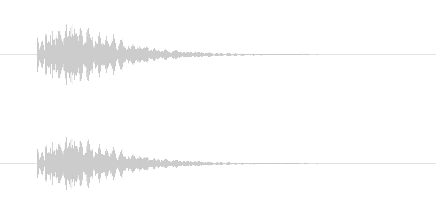 キララァーンの未再生の波形
