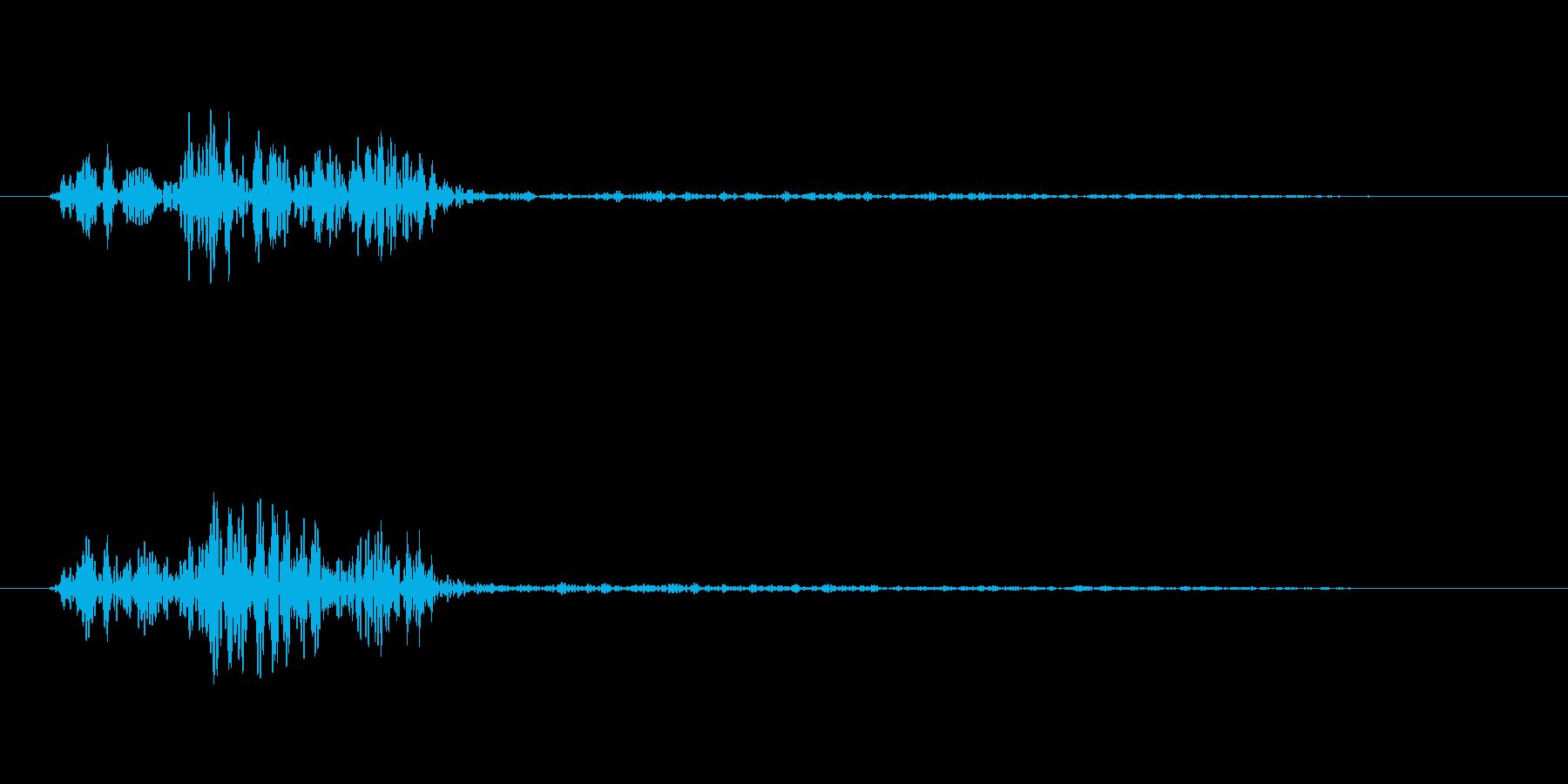 「タララー」という効果音です。の再生済みの波形