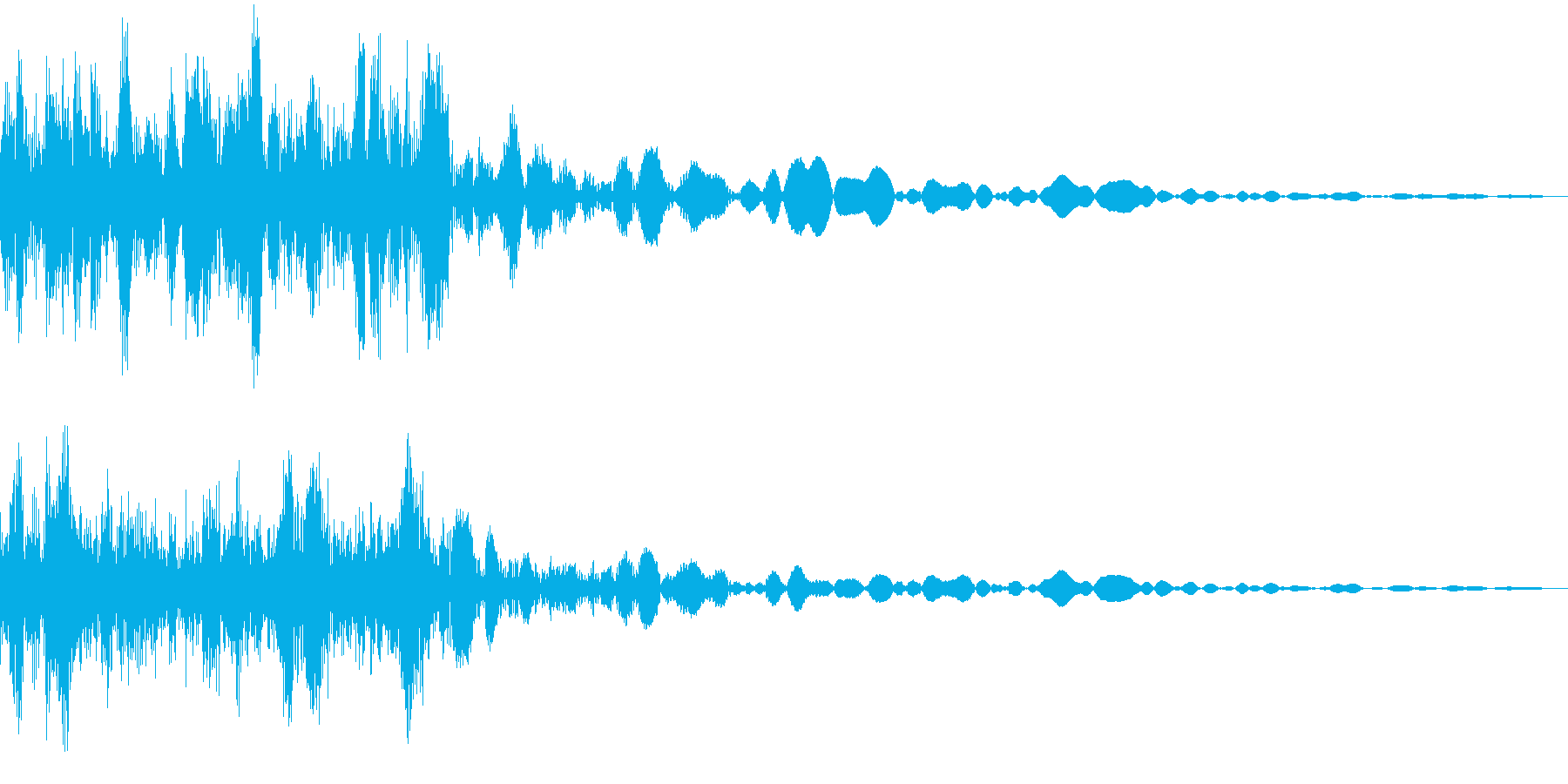 パソコンの電源を切るの再生済みの波形