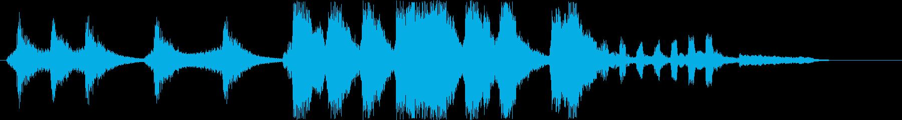 コミカルなシンセサウンド短めの再生済みの波形
