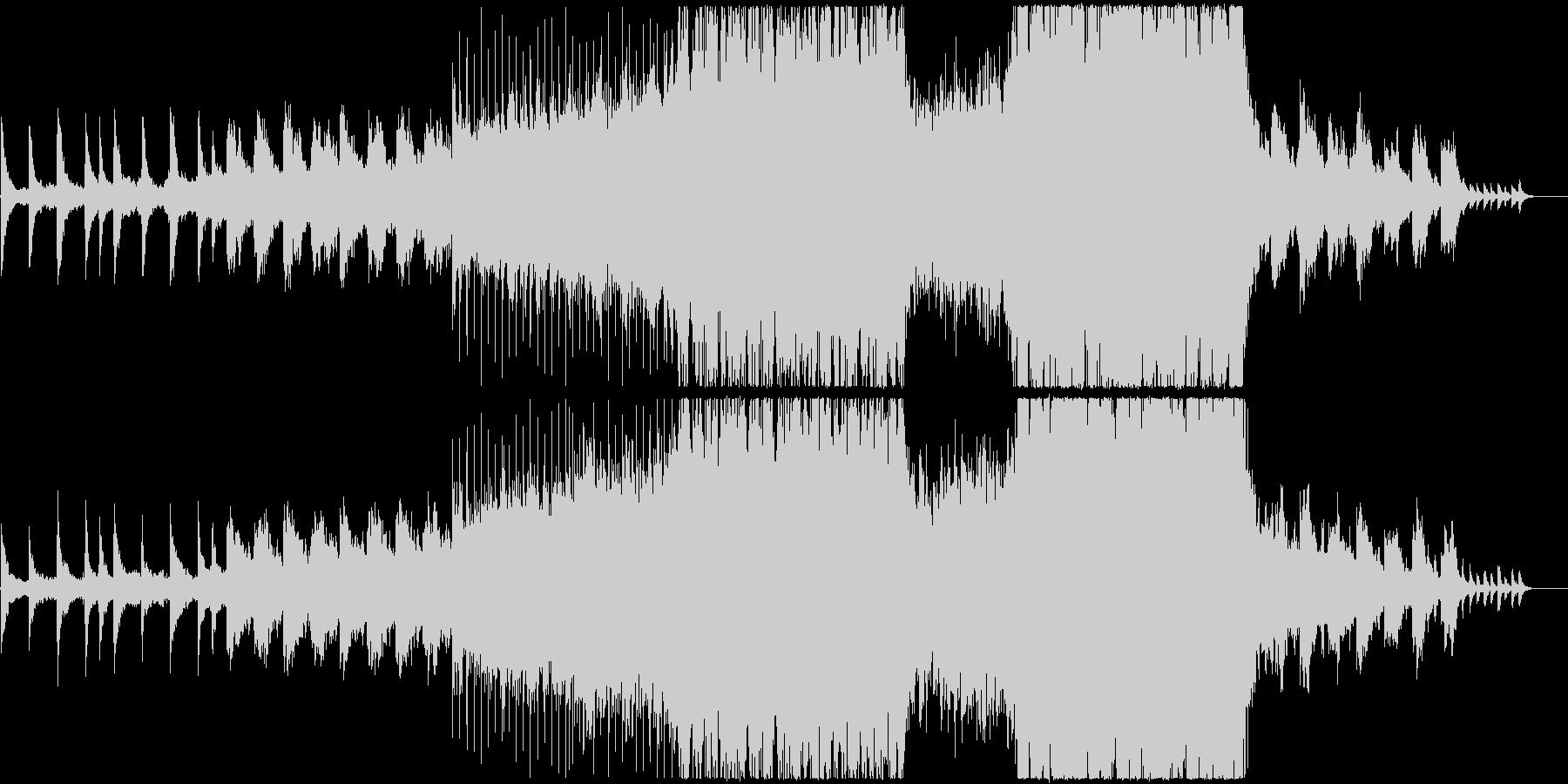 鮮やかで感動的な映像、CMにの未再生の波形