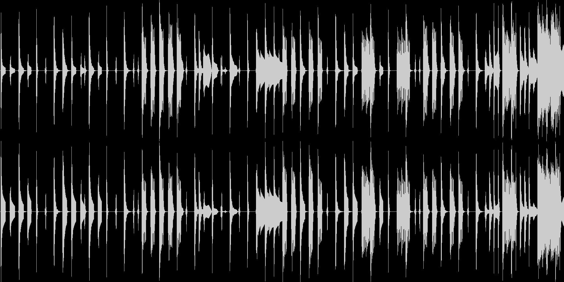 レトロゲーム風の軽快なエレクトロニカの未再生の波形