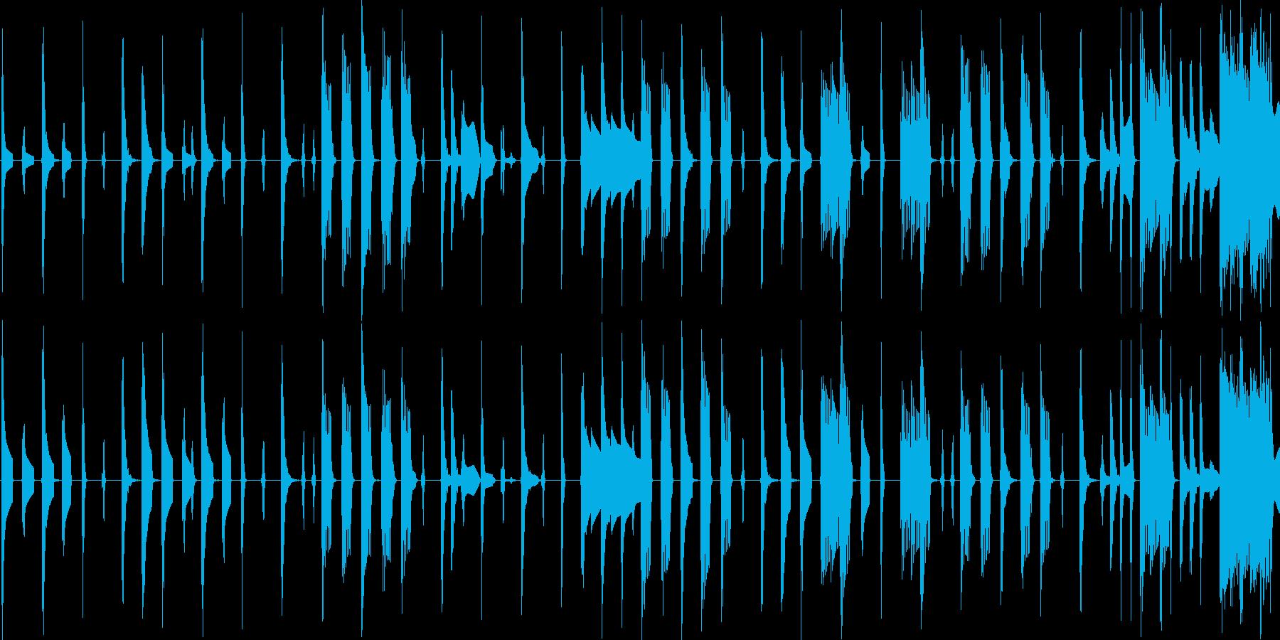 レトロゲーム風の軽快なエレクトロニカの再生済みの波形