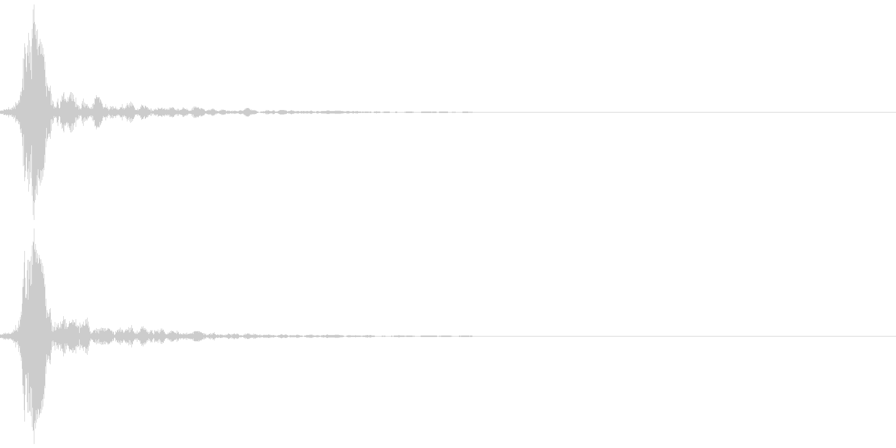 指パッチン(フィンガースナップA)の未再生の波形