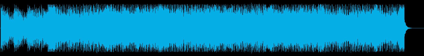 アップテンポでエネルギッシュなBGMの再生済みの波形