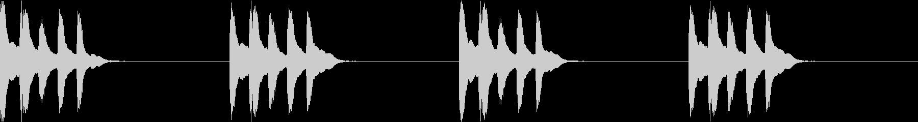シンプル ベル 着信音 チャイム C14の未再生の波形