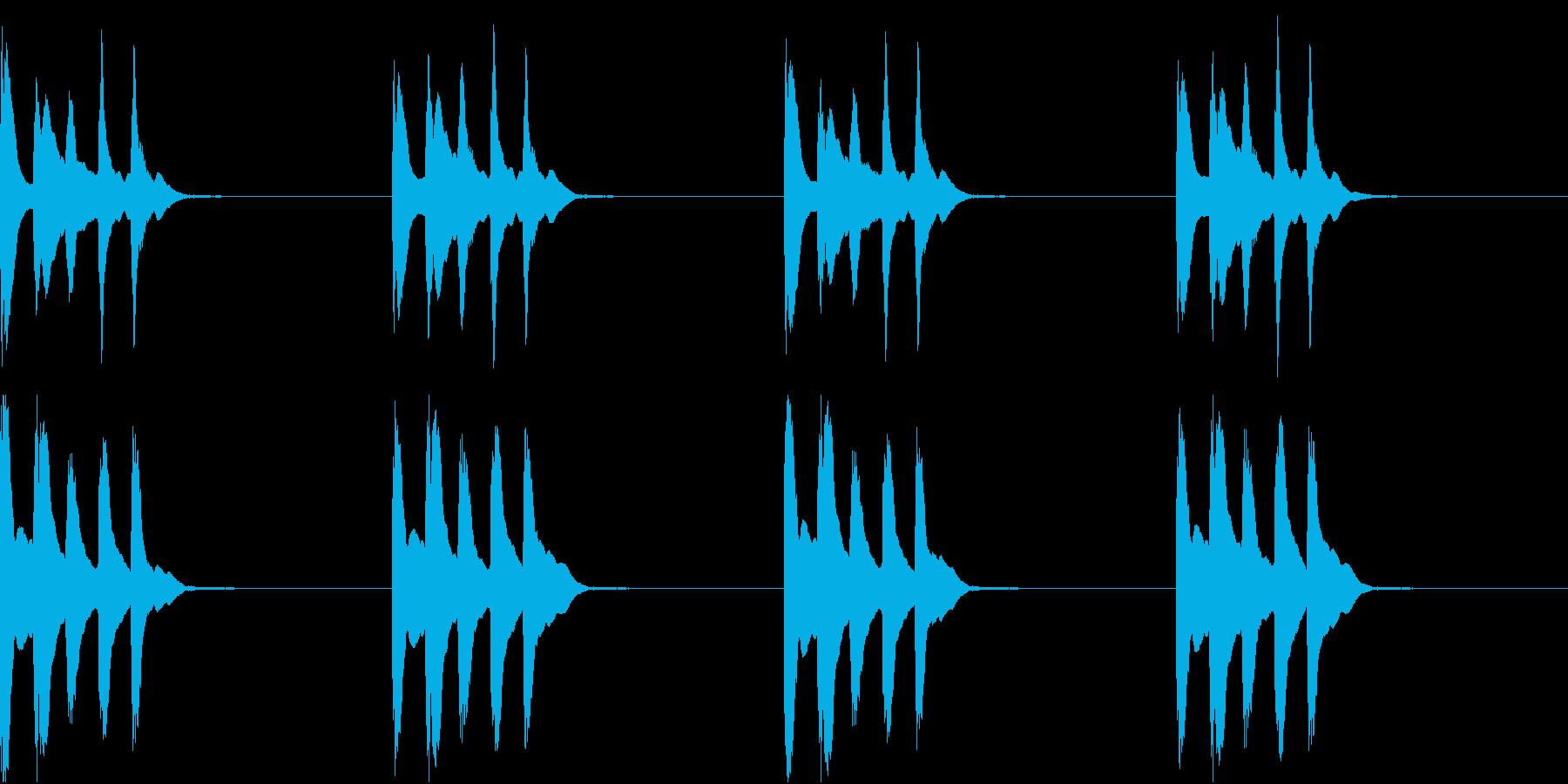 シンプル ベル 着信音 チャイム C14の再生済みの波形