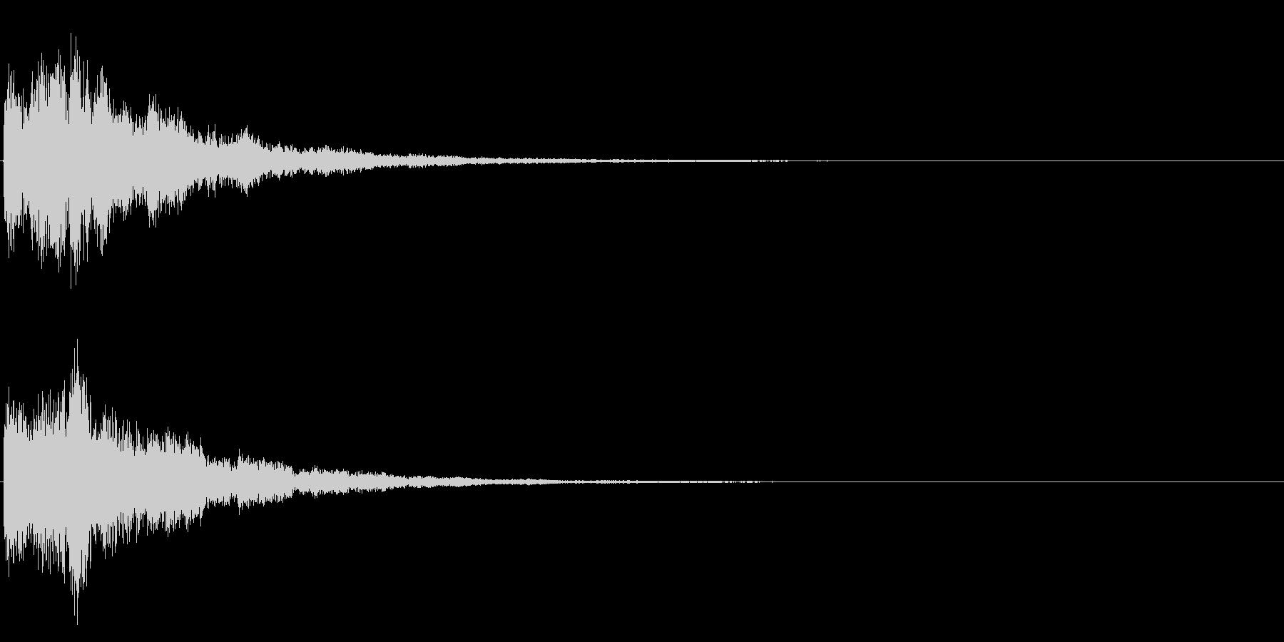 ゲームスタート、決定、ボタン音-020の未再生の波形