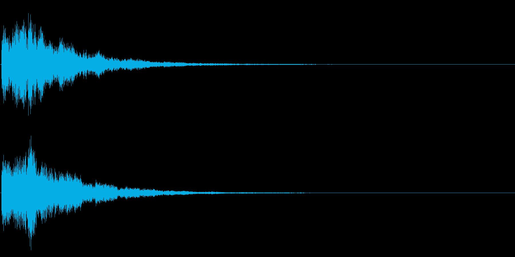 ゲームスタート、決定、ボタン音-020の再生済みの波形
