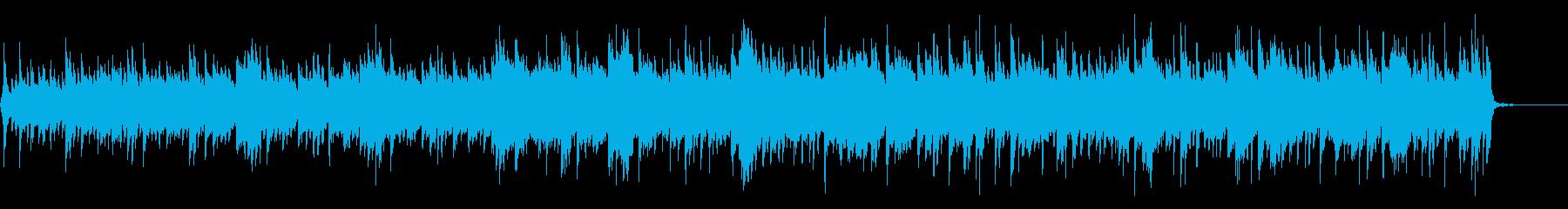 エレクトロなループと儚いギターの生演奏の再生済みの波形