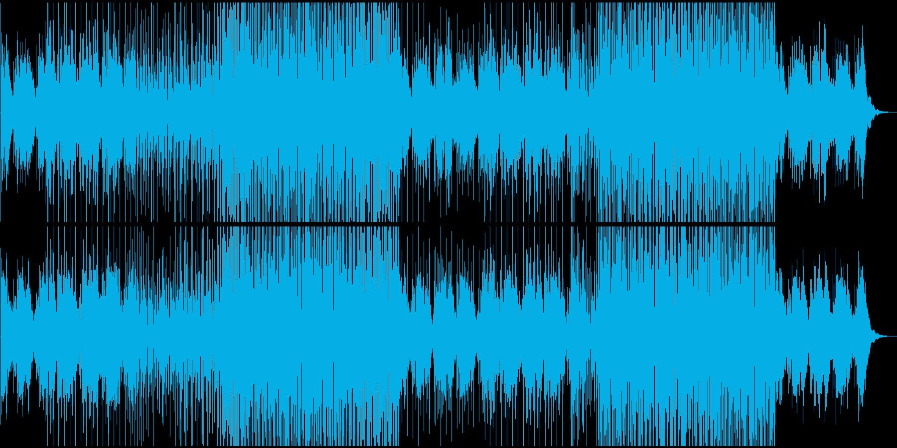 夏っぽい癒しのチルハウス系BGMの再生済みの波形