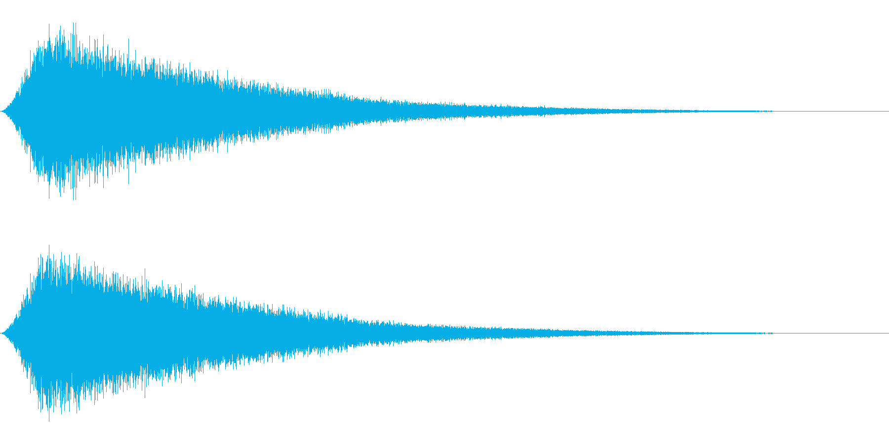 Seaside 波の音 ワンショット音源の再生済みの波形