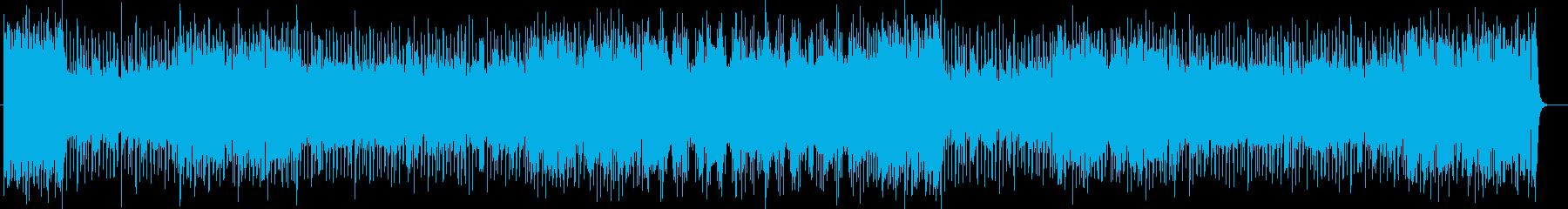 シンセサイザーによるキラキラしたポップスの再生済みの波形