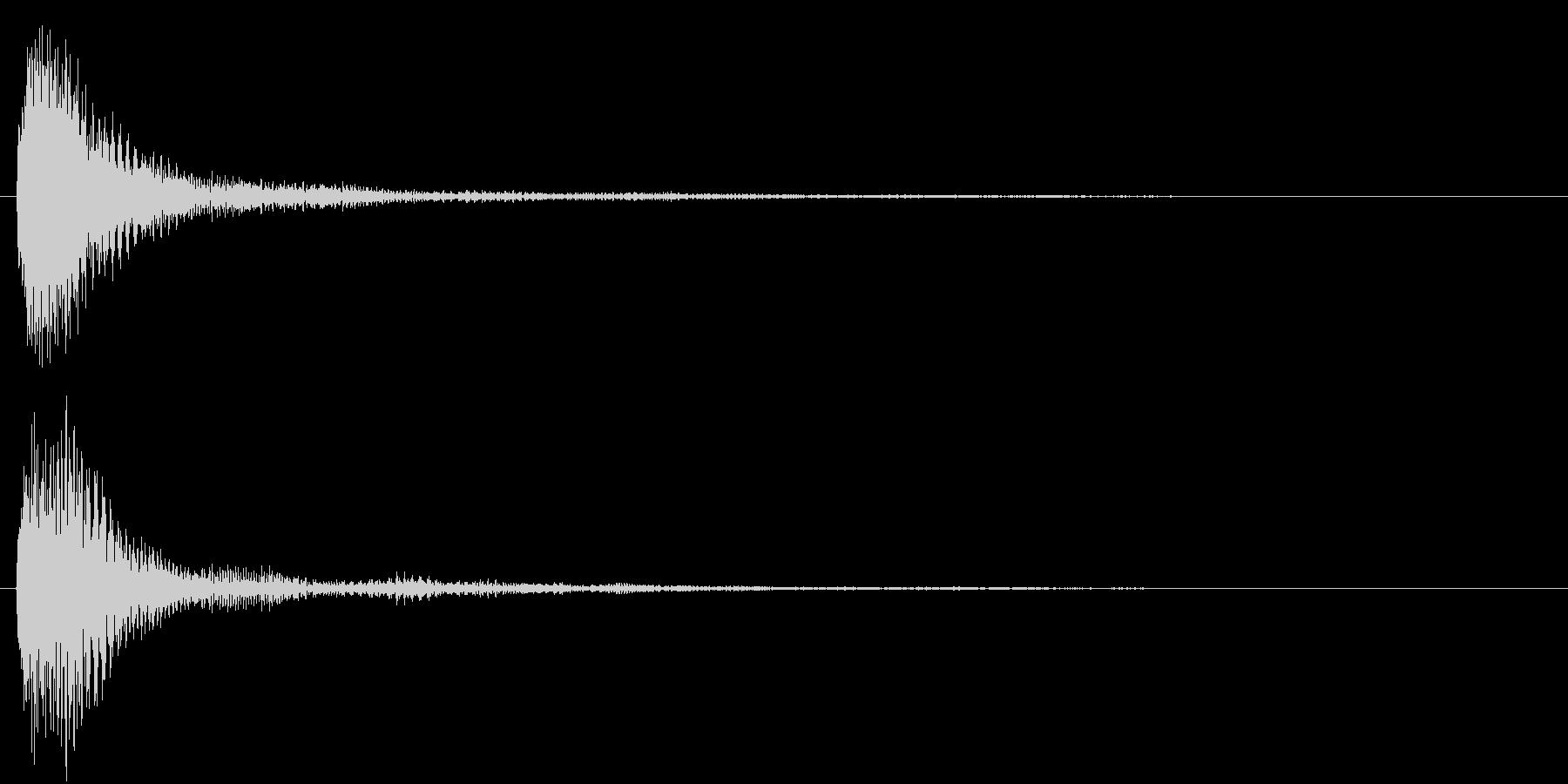 ピアノとマリンバの決定音の未再生の波形