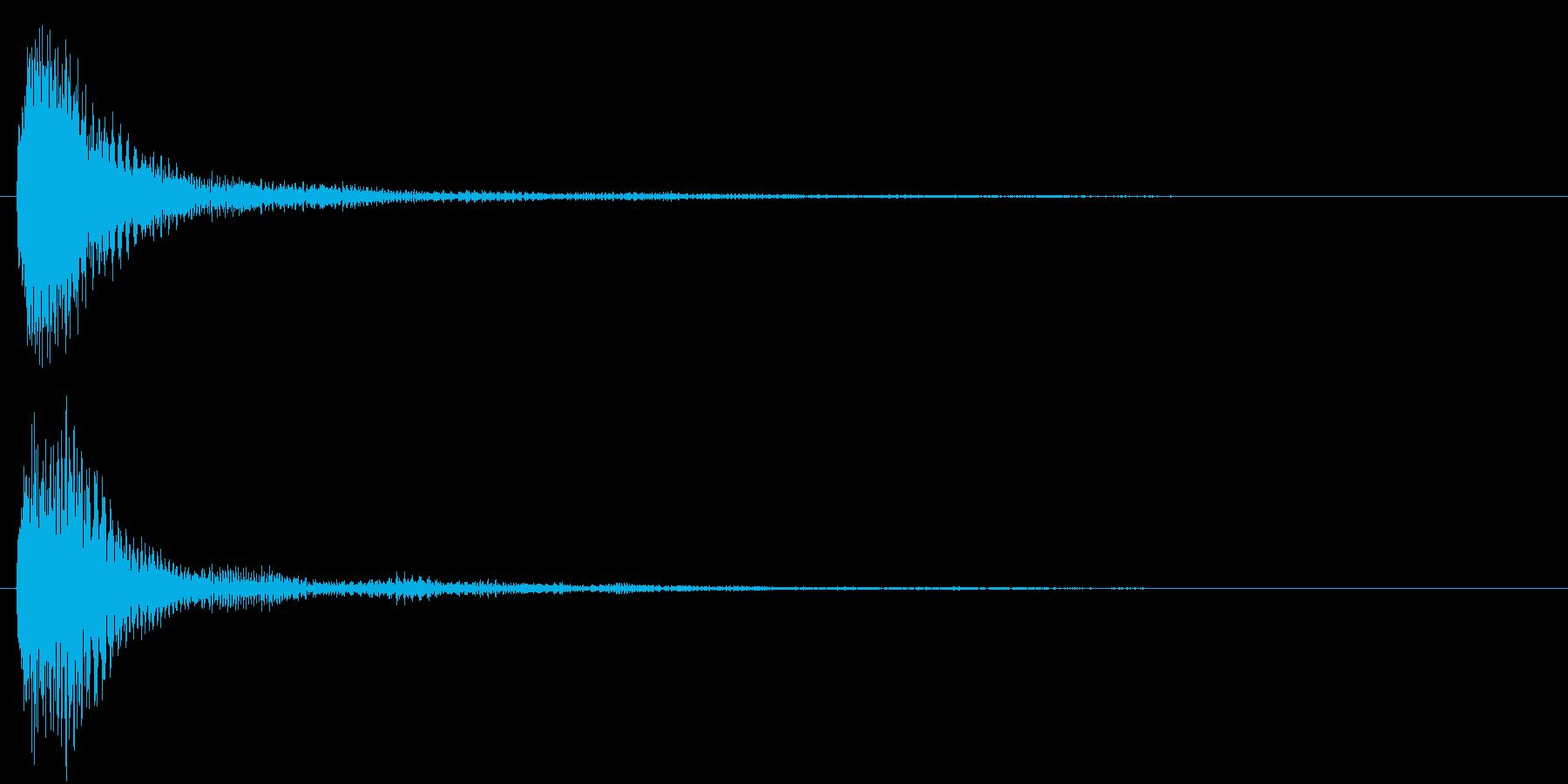 ピアノとマリンバの決定音の再生済みの波形