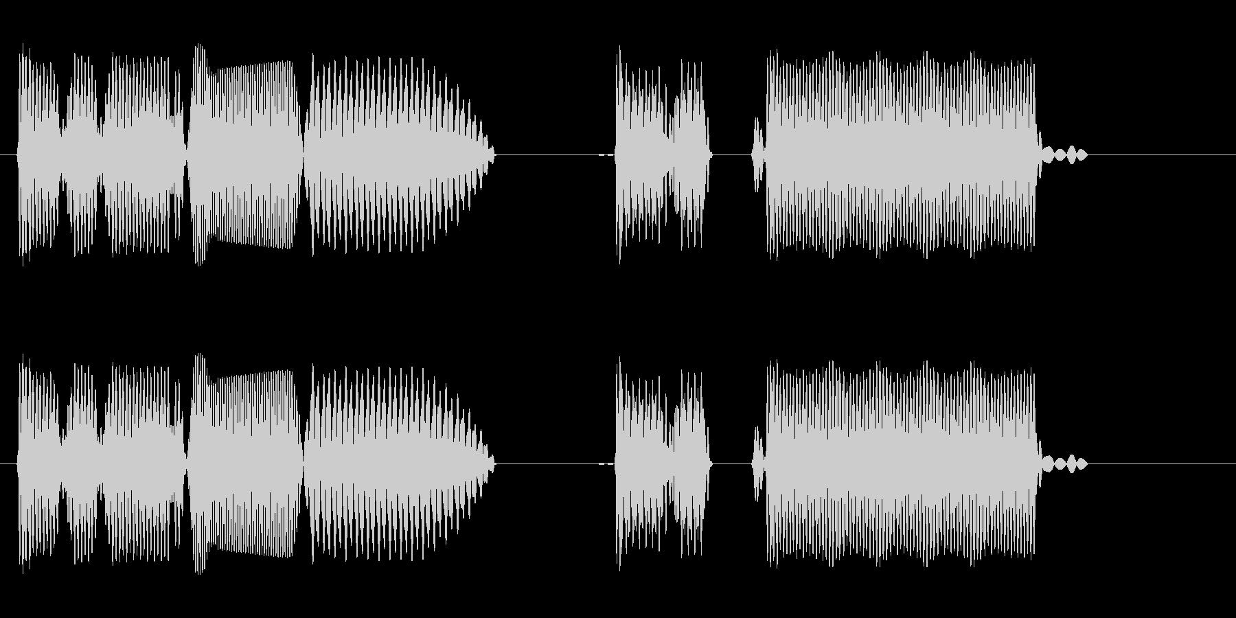プヤンプーププー(ロボット声や電子音)の未再生の波形