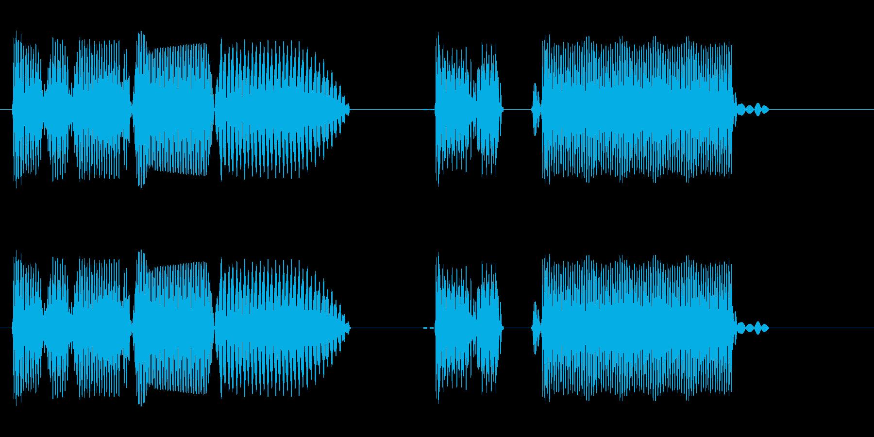 プヤンプーププー(ロボット声や電子音)の再生済みの波形