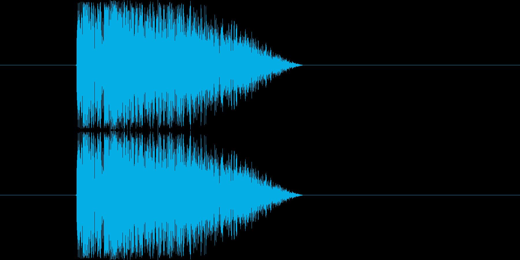 打撃攻撃音の再生済みの波形