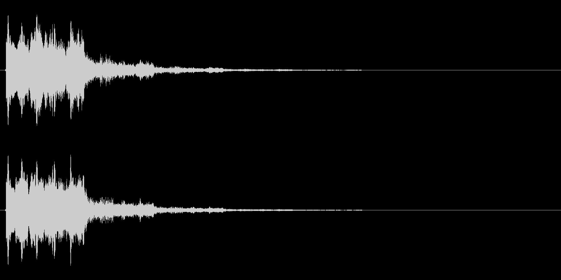 タラ↓ラン↑(起動音、決定音)の未再生の波形