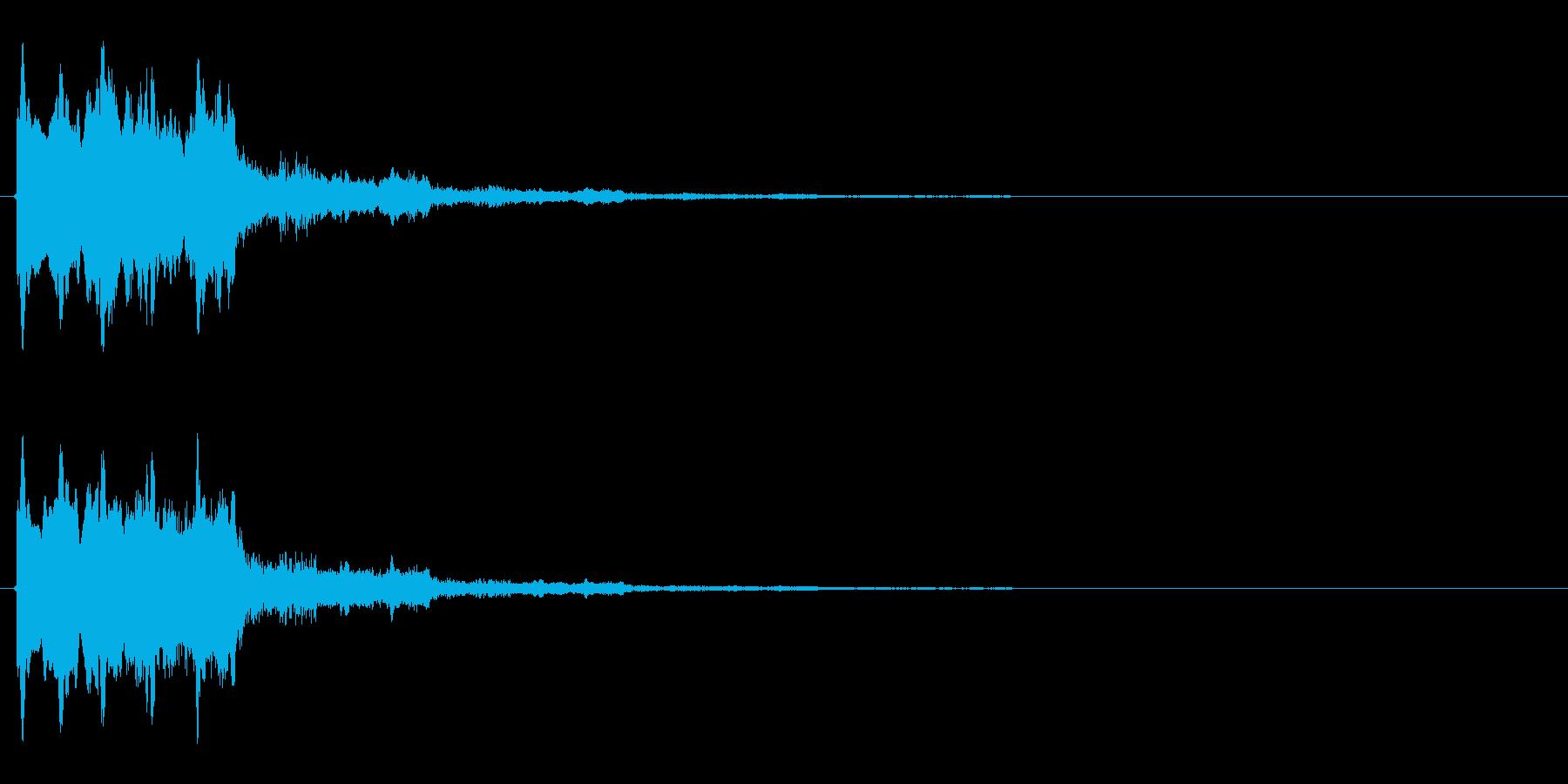 タラ↓ラン↑(起動音、決定音)の再生済みの波形