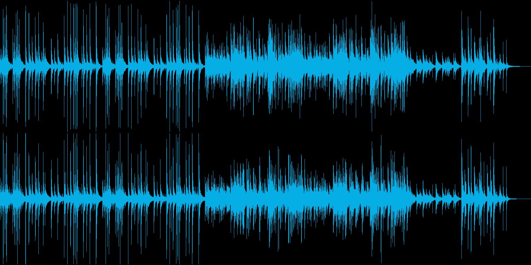 城下町のイメージの琴と太鼓の和風BGMの再生済みの波形