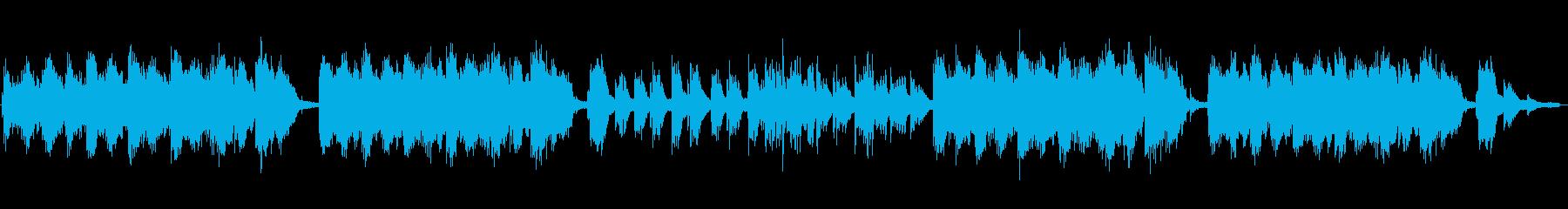 現代的で和風な曲の再生済みの波形