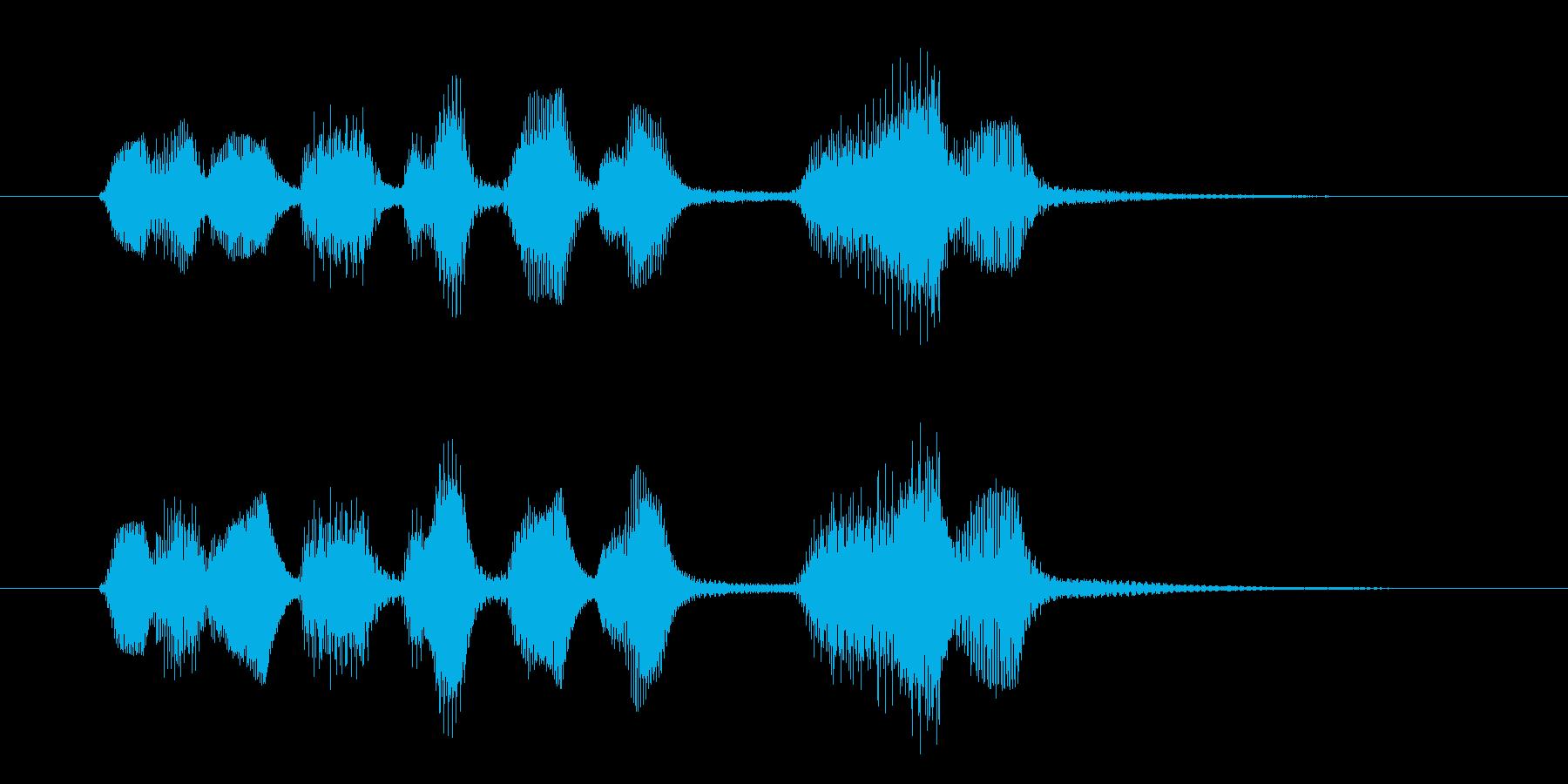 その名の通りほのぼのとしたジングルですの再生済みの波形