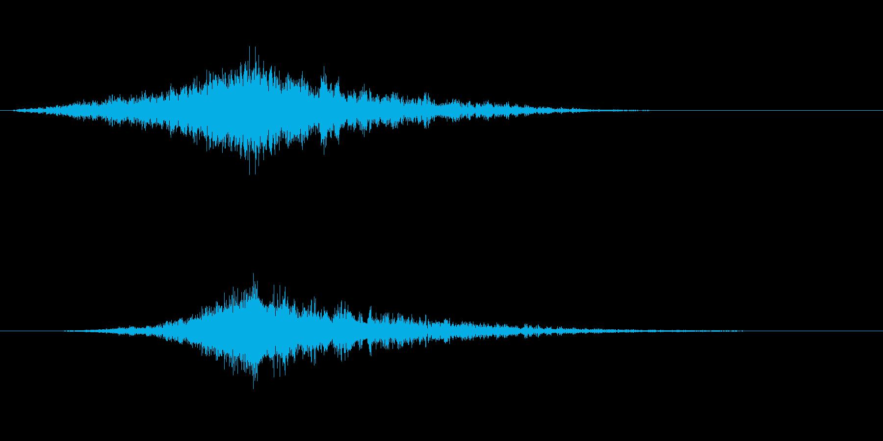 映画でよくあるライズヒットサウンドロゴ4の再生済みの波形
