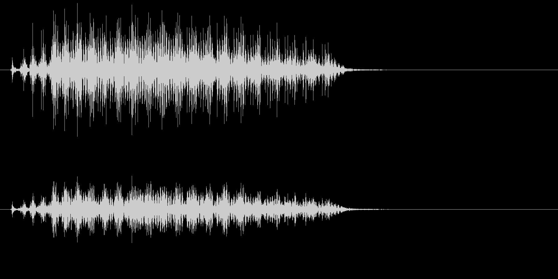 ハシボソガラスの鳴き声の未再生の波形