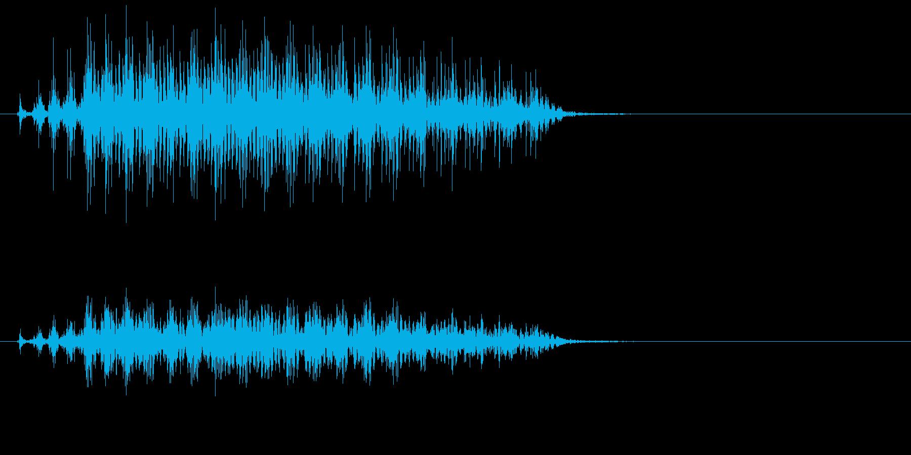 ハシボソガラスの鳴き声の再生済みの波形