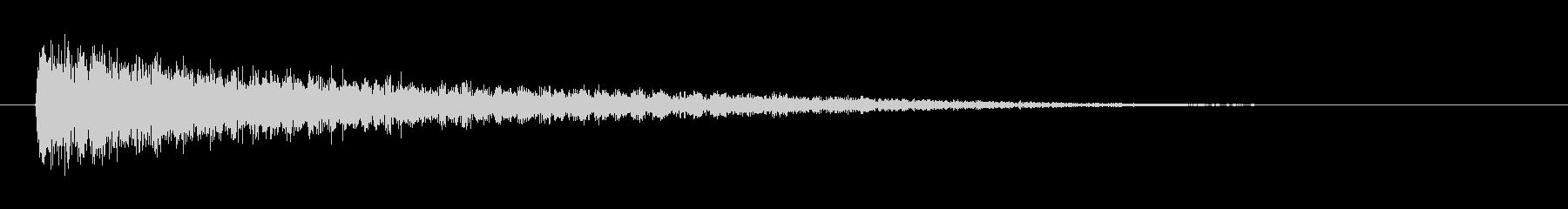 ピアノ効果音 低めのガーン ショックの未再生の波形