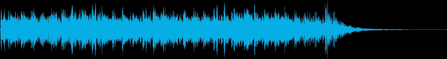 強拍にベル、16分音符をグロッケンを使…の再生済みの波形