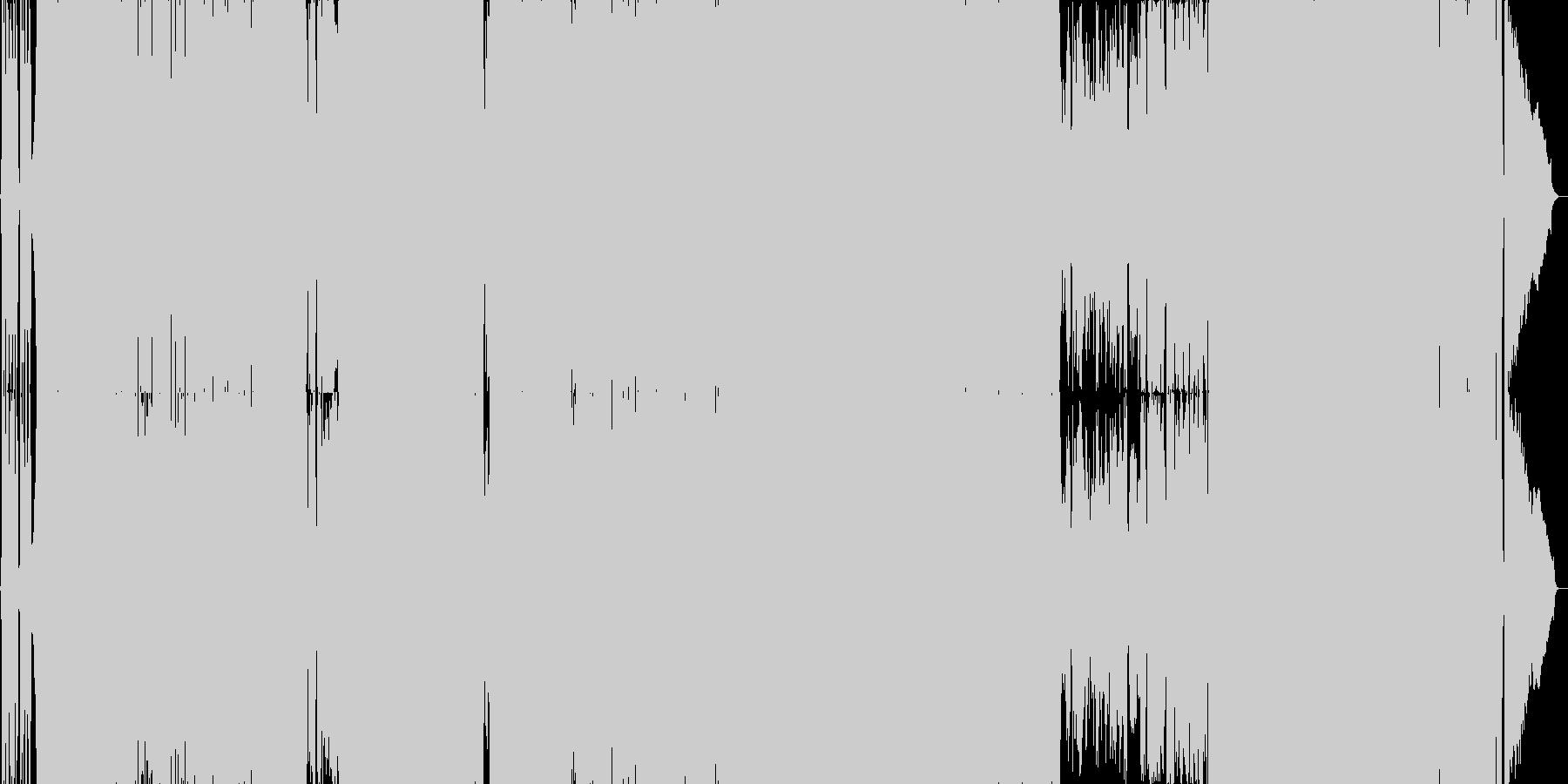 疾走感のあるガールズロックの未再生の波形