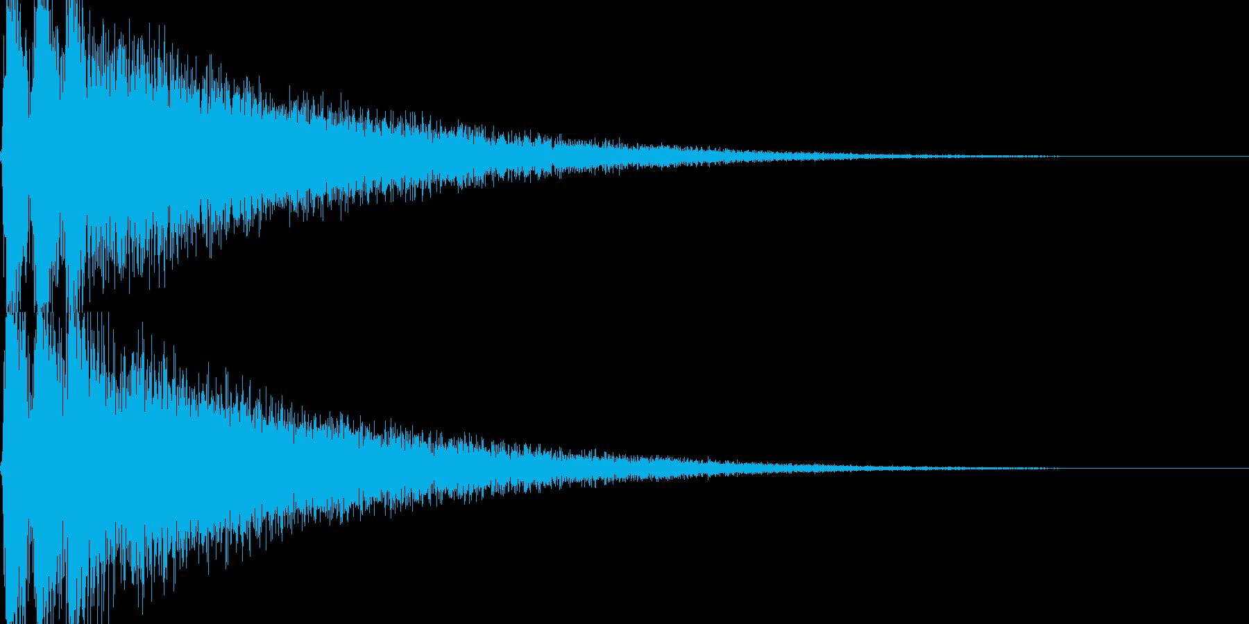開始のドラの再生済みの波形