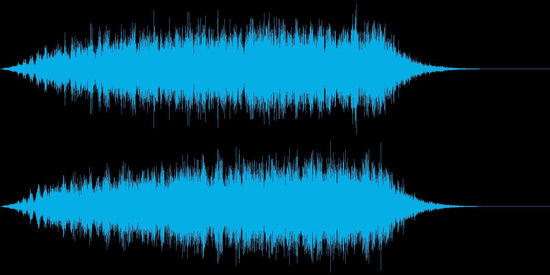 ホラーな演出に 30の再生済みの波形