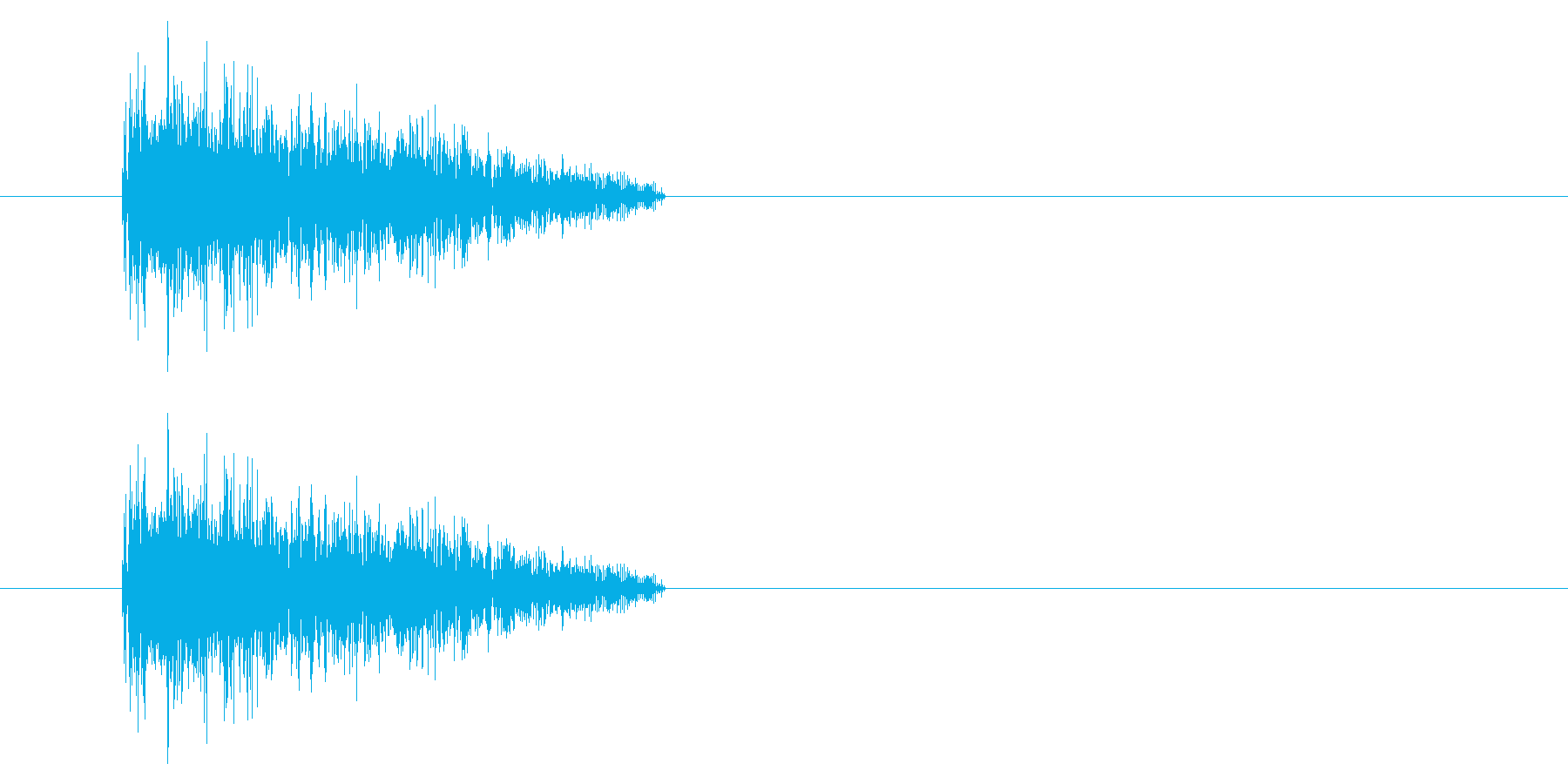 NES シューティング01-5(ダメージの再生済みの波形