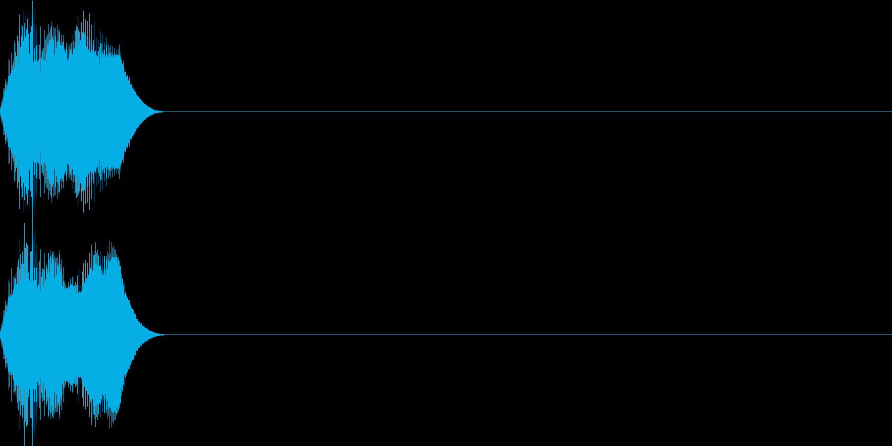決定音62_シンセMの再生済みの波形