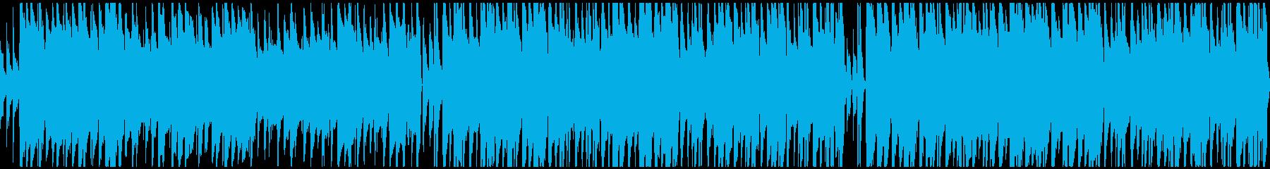 ループ仕様、ほのぼのしたポップスの再生済みの波形